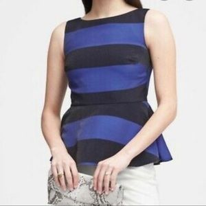 Banana Republic Peplum Stripe Top